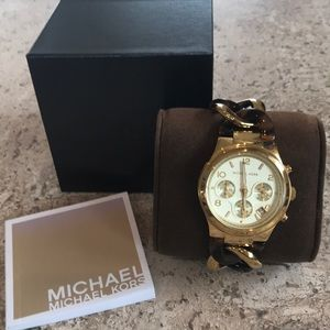 Accessories - Michael Kors tortoise/ goldtone watch